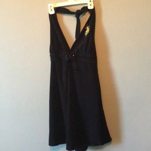 Black Small Polo Swimsuit Coverup
